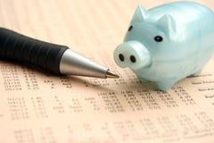 Relatório financeiro Fotografia de Stock