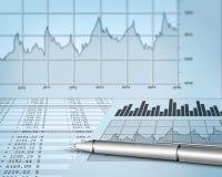 Relatório financeiro Imagem de Stock