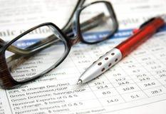 Relatório financeiro fotografia de stock royalty free