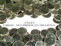 Relatório financeiro Foto de Stock