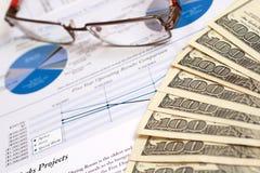 Relatório financeiro Imagens de Stock