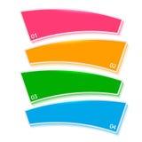 Relatório firme das etapas do processo do molde do menu Imagem de Stock