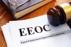 Relatório igual da comissão da oportunidade de emprego de EEOC fotografia de stock royalty free