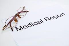 Relatório médico Imagens de Stock Royalty Free