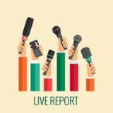 Relatório vivo Fotografia de Stock