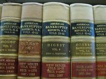 Relatórios americanos da bancarrota Foto de Stock
