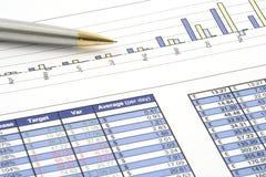 Relatório comercial imagem de stock royalty free