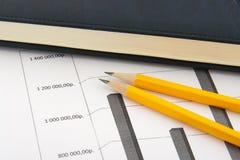Relatórios de negócio Fotografia de Stock