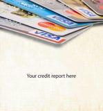Relatórios do cartão de crédito Imagens de Stock Royalty Free