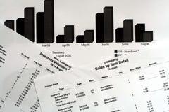 Relatórios financeiros fotografia de stock
