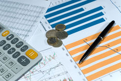 Relatórios financeiros imagem de stock royalty free