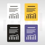 Relate o ícone do vetor do arquivo de texto Imagens de Stock