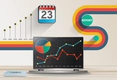Relate o conceito das estatísticas de negócio Fotos de Stock Royalty Free
