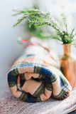 Related plaids Royalty Free Stock Photography