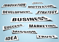 Related to business words - realistic background Stock Image