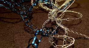 Knitted chain jewelry Stock Photos