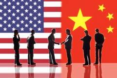 Relaties tussen de V.S. en China vector illustratie