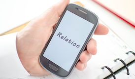 Relation concept Stock Images