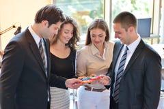 Relation d'affaires Team Jigsaw Puzzle Concept d'entreprise Photo stock