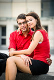 Relation in work - young business couple Royalty Free Stock Images