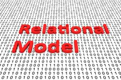 Relational model Stock Images