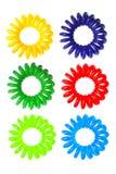 Relations étroites élastiques spiralées colorées de cheveu Images stock