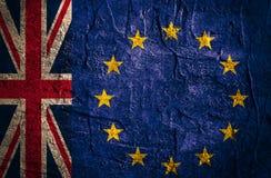 Relations adroites entre l'union de l'Europe et la Grande-Bretagne Brexit Images stock