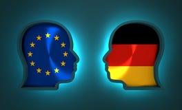 Relations adroites et économiques entre l'Union européenne et l'Allemagne Image libre de droits