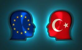 Relations adroites et économiques entre l'Union européenne et la Turquie Images libres de droits