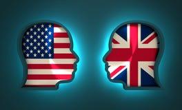 Relations adroites et économiques entre les Etats-Unis et la Grande-Bretagne Photographie stock libre de droits