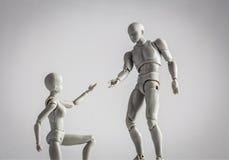 Relations, aide, et concept d'amitié Exte femelle de figurine Photos libres de droits