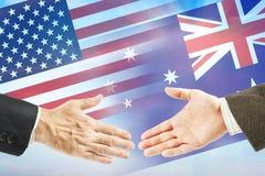 Relations amicales entre les Etats-Unis et l'Australie Photographie stock
