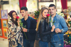 Relations, amour, concept roman Photo stock