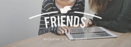 Relations Communit d'unité de connexion d'amitié d'amis Photo stock