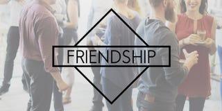 Relations Communit d'unité de connexion d'amitié d'amis Photos libres de droits