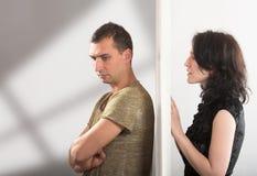 Relations de couples - concept de conflit images stock