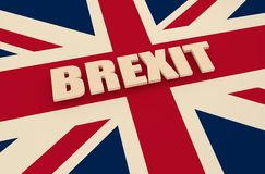 Relations de la Grande-Bretagne et de l'Union européenne Photos stock