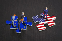 Relations between Europe and the USA Royalty Free Stock Image