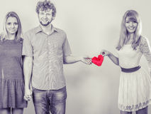 Relations heureuses de triangle Image stock