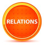 Relations Natural Orange Round Button stock illustration
