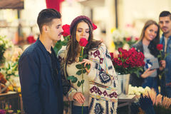 Relations, love, romance concept -  happy young couples Stock Images