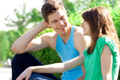 Relations between men and women. Youth Stock Photo
