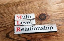 Relations MLR de niveau multi Photos libres de droits