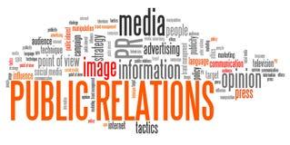 Relations publiques Photos stock