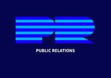 Relations publiques avec des rayures Image stock