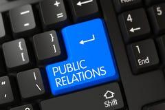 Relations publiques - clavier numérique de PC 3d Photos stock