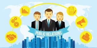 Relations publiques de RP Photo stock