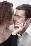 Relations Romance d'amants d'océan de plage d'amour de couples d'engagement Images stock