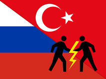 Relations between Russia and Turkey Royalty Free Stock Photos
