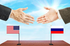 Relations between Russia and the United States Stock Photos